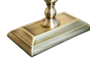 Kingswood Barley Twist Rectangular Base  - Antique Brass