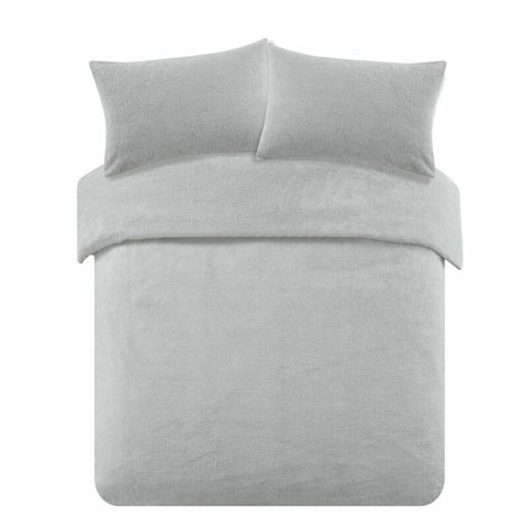 Grey Silver Duvet Cover with Pillow Case