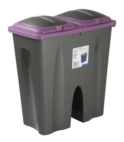 Double Plastic Kitchen Recycling Waste Bin