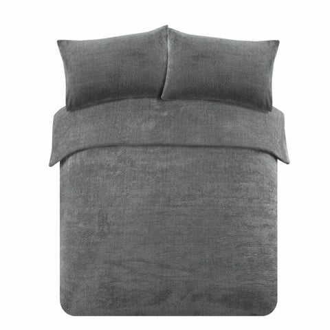 Charcoal Grey Duvet Cover with Pillow Case