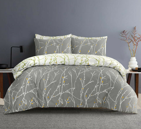 WHITE BRANCHES DESIGN DUVET COVER