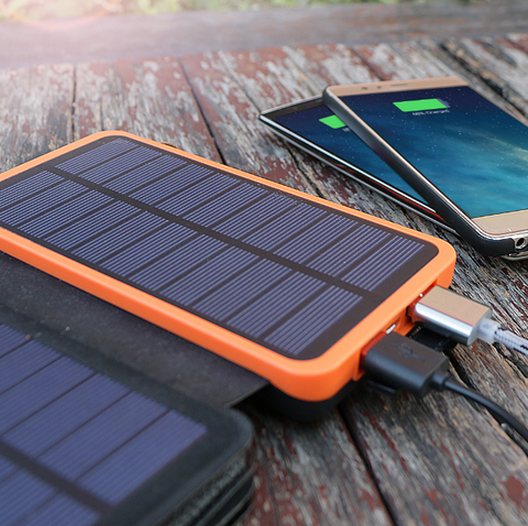 Solar Multi-Panel Power Bank 20000mAh Fast Charge