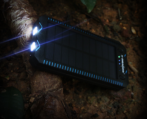 Solar Power Bank 15000mAh Blue LED