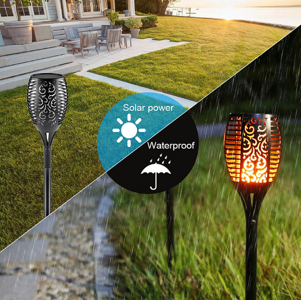 Solar Torch Flickering LED Lights