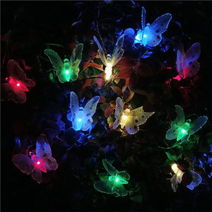 Solar Butterfly LED Lights 12 Pack
