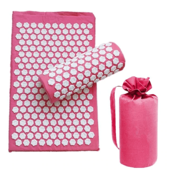 tapis de massage rose