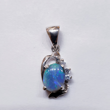 Load image into Gallery viewer, Sterling Silver Black Opal Pendant