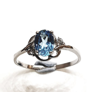 Blue Topaz Sterling Silver Ring