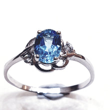 Load image into Gallery viewer, Blue Topaz Sterling Silver Ring