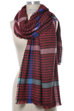 Load image into Gallery viewer, Rainbow Tartan Oversized Scarf - Multiple Colors