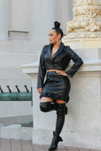 Load image into Gallery viewer, Bad Girl Two Piece Leather Set