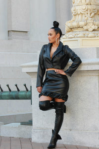 Bad Girl Two Piece Leather Set