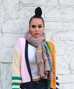 Rainbow Tartan Oversized Scarf - Multiple Colors