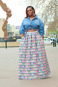 You Nailed It Circle Skirt - Curvy Brat