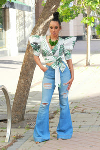 Garden Of Eden Puff Sleeve Top