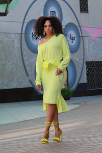 Lime Time Trumpet Dress