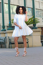 Load image into Gallery viewer, Be My Baby Doll Mini Dress- Ivory