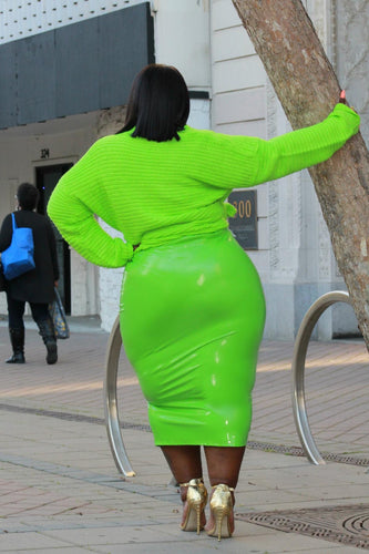 Patent Pencil Skirt Slime- Curvy Brat
