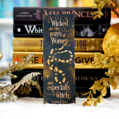 "Serpent & Dove ""Wicked""  bookmark"