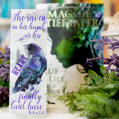 "The Raven Cycle ""Raven"" bookmark"