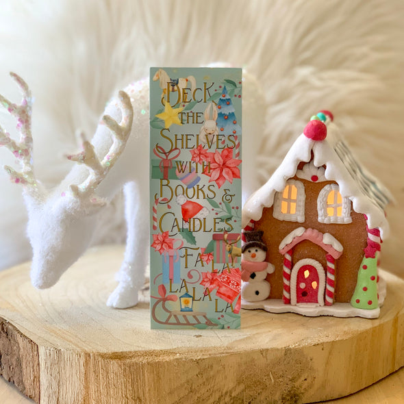 "Christmas ""Deck the Shelves"" bookmark"