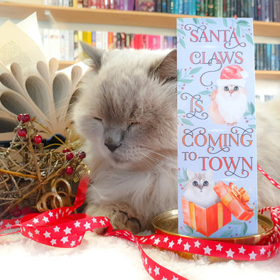 "Christmas ""Santa Claws"" bookmark"