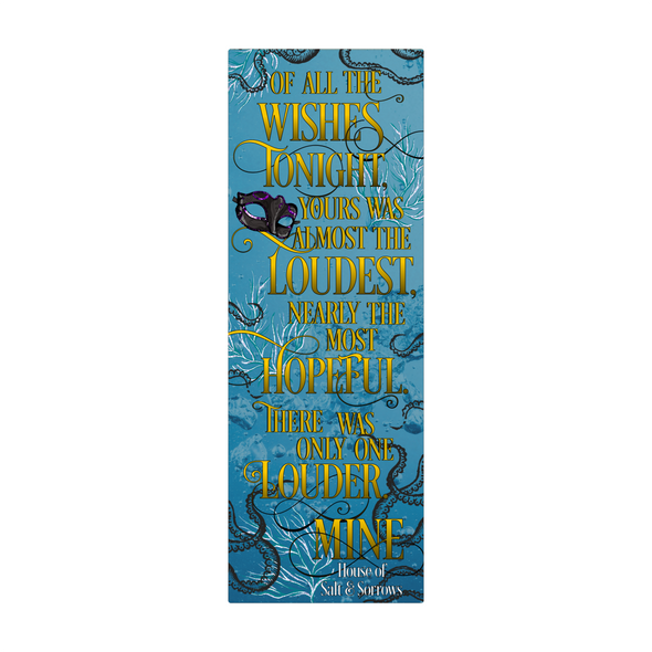 "House of Salt and Sorrows ""Wishes"" bookmark"