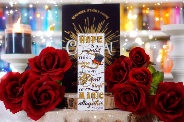 "Caraval ""Hope is a powerful thing"" bookmark"