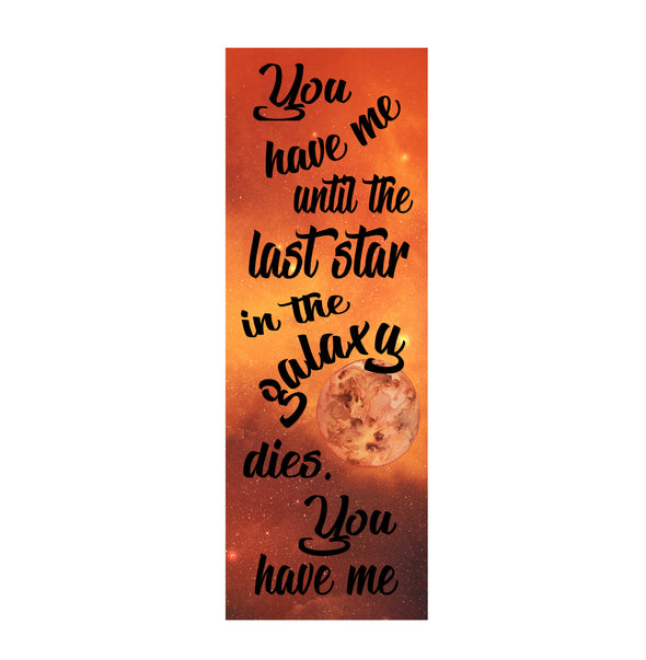 "Illuminae ""You have me"" bookmark"