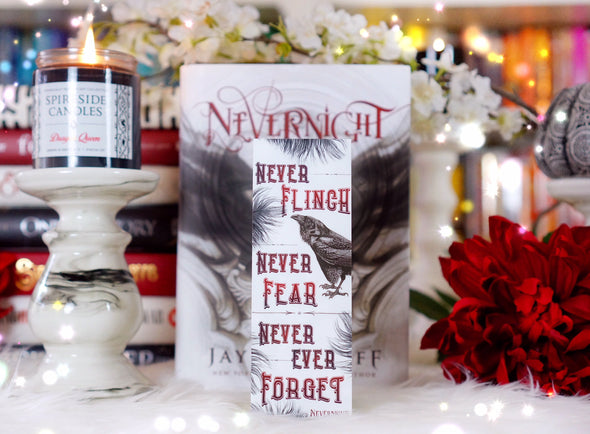 "Nevernight ""Never Fear"" bookmark"