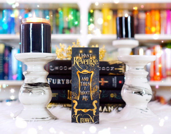 "Three Dark Crowns ""Revenge"" bookmark"