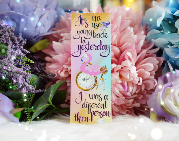 "Alice in Wonderland ""Yesterday"" bookmark"