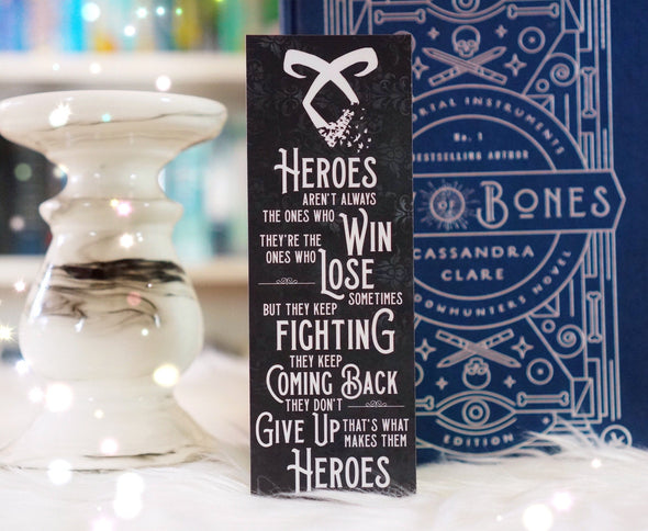 "Shadowhunters ""Heroes"" bookmark"