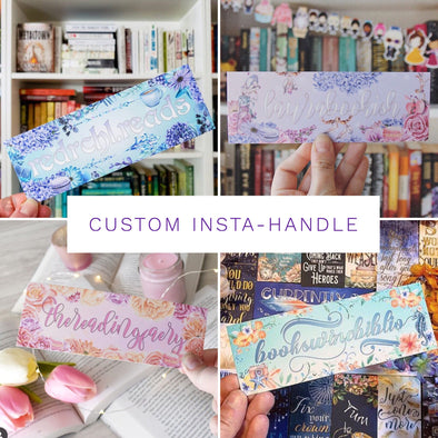 Custom Instagram handle / name bookmark