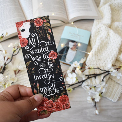 "Phantom of the Opera ""All I Wanted"" bookmark"