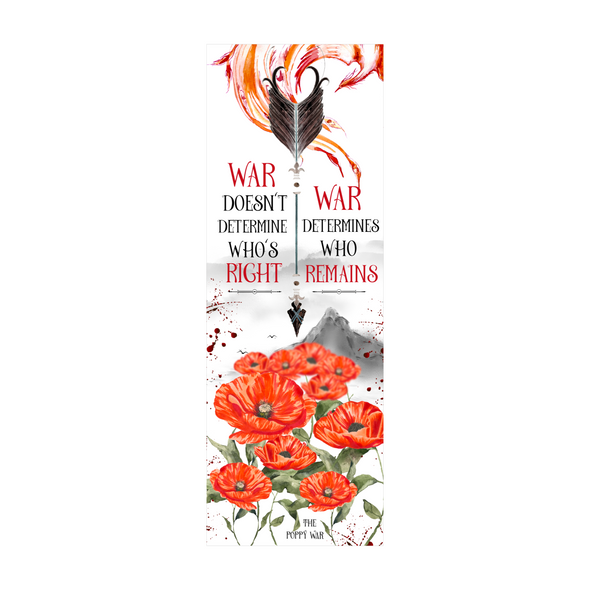 The Poppy War 'War' bookmark