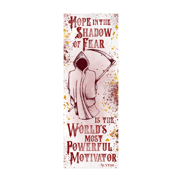 "Scythe ""Shadow  of Fear"" bookmark"