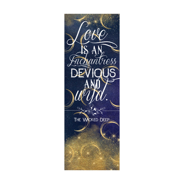 "The Wicked Deep  ""Devious and wild"" bookmark"