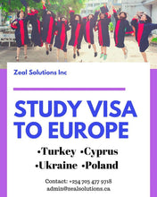Load image into Gallery viewer, Registration for Europe Study Visa