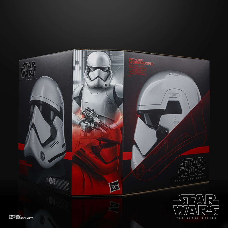 PRE- VENTA: Star Wars The Black Series First Order Stormtrooper Casco electrónico Premium (Envío gratis)