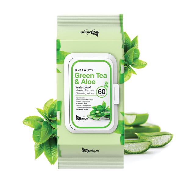 Makeup Remover Cleansing Wipes (60 count) | Green Tea & Aloe