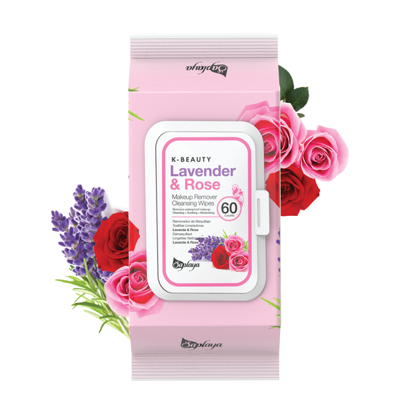 Makeup Remover Cleansing Wipes (60 count) | Lavender & Rose