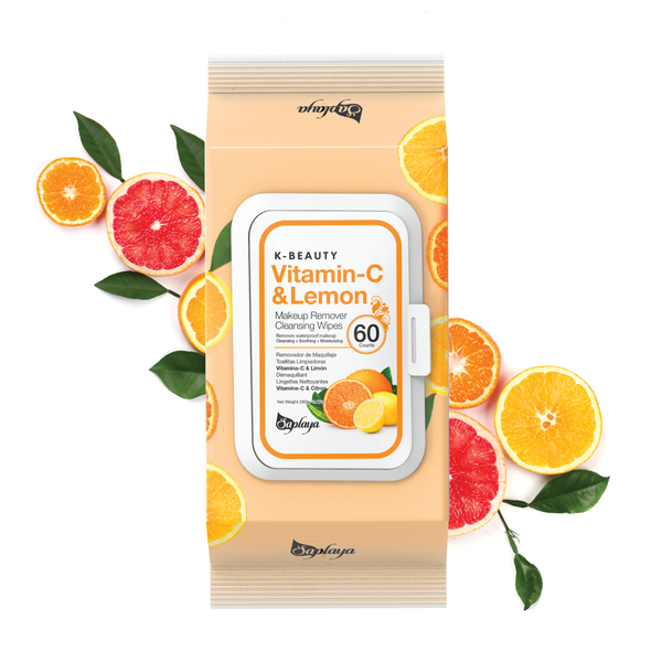 Makeup Remover Cleansing Wipes (60 count) | Vitamin-C & Lemon