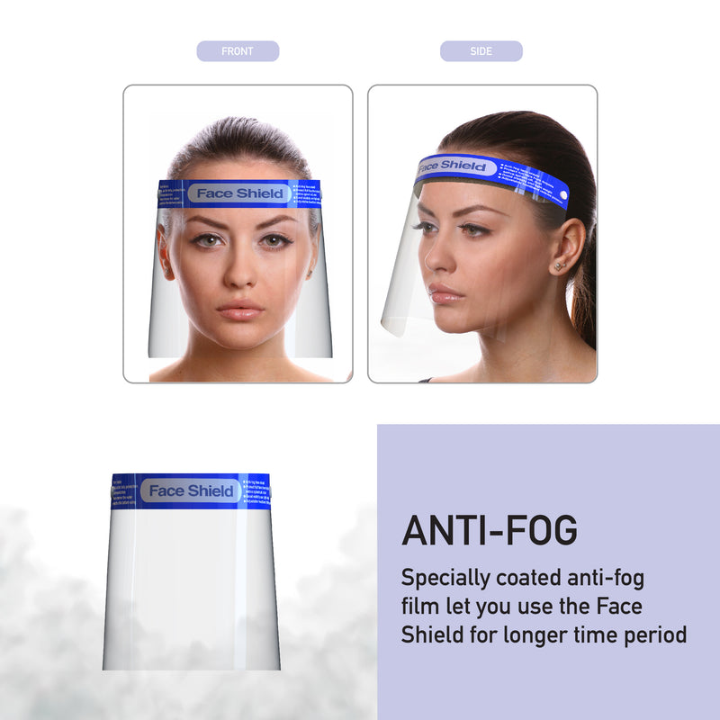 Safety Reusable Face Shield Clear Plastic Full Face shield Transparent Anti-Splash