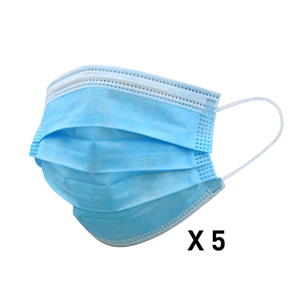 Protective Filtration Surgical Disposable Mask 5pack