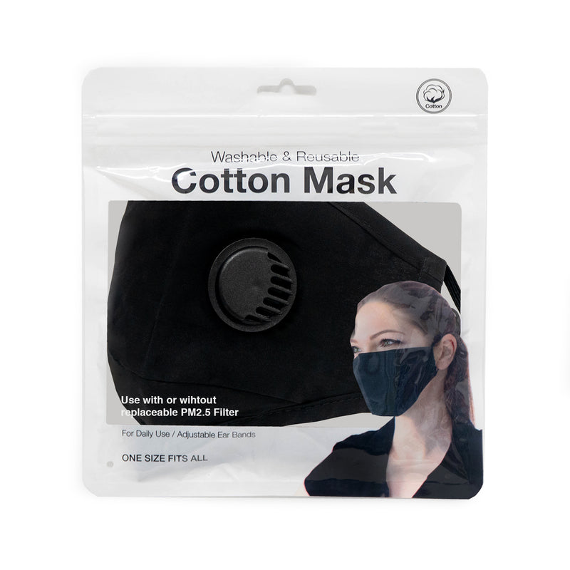 Plastic pore filtration cotton mask