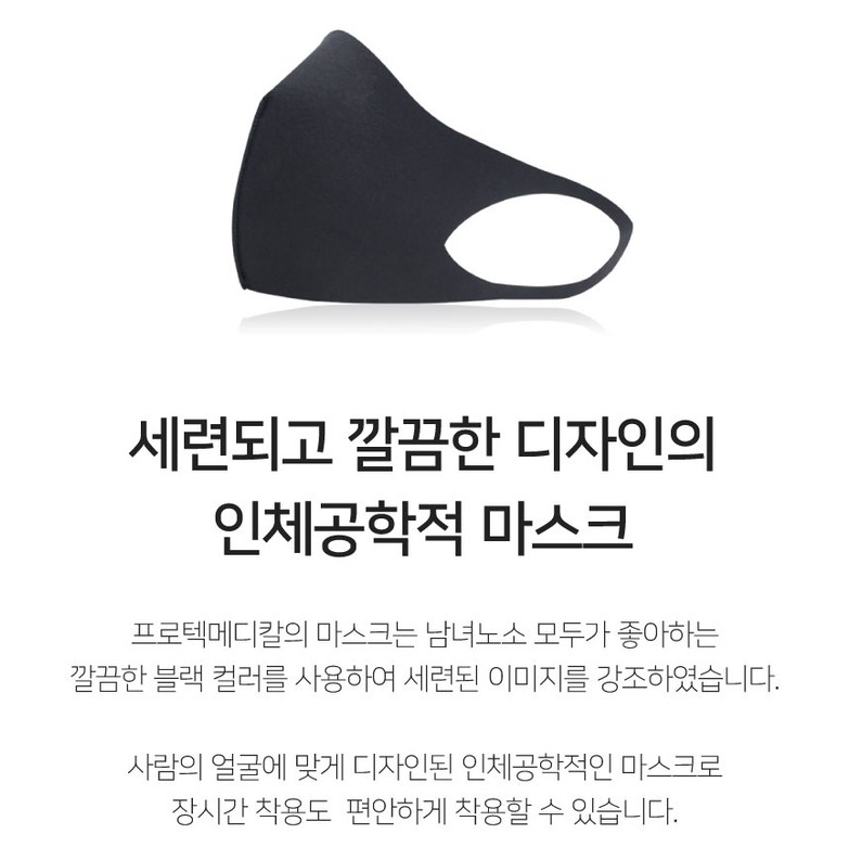 Silver NANO Protective Black Mask Reusable & Washable Made in South Korea[200ea]