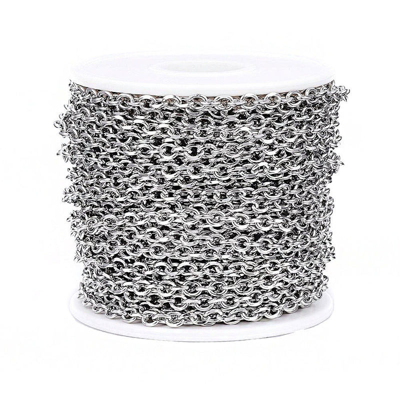 BULK Stainless Steel Cable Chain 3.25Ft - 4mm - FD559