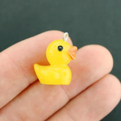 4 Duckie Resin Charms 3D - K125