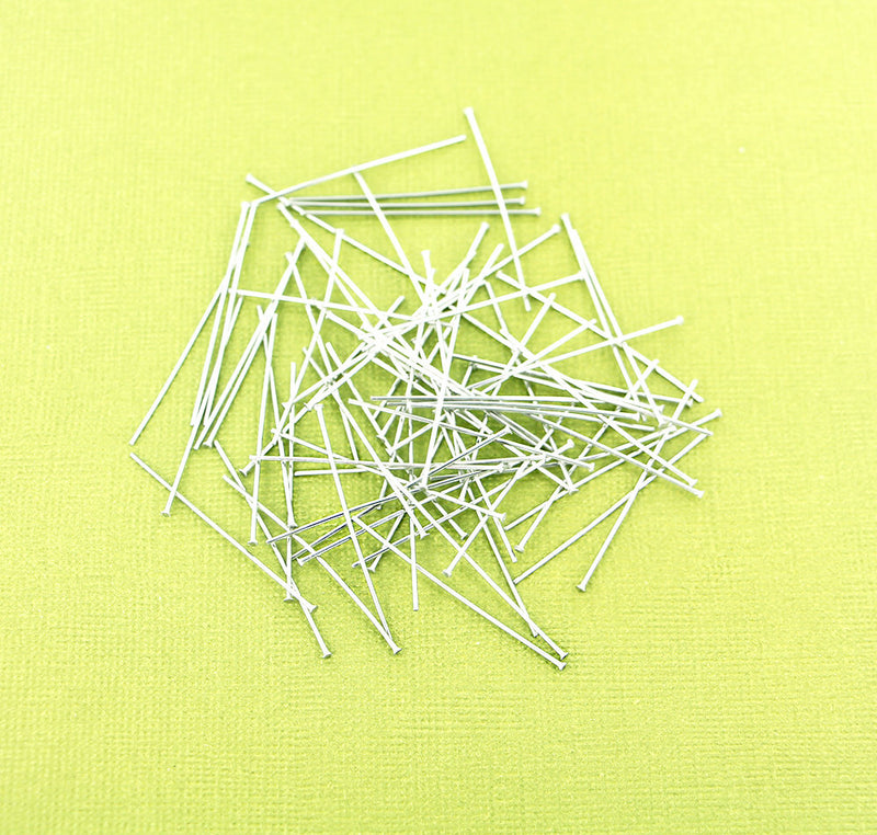 Stainless Steel Flat Head Pins - 35mm - 50 Pieces - PIN52